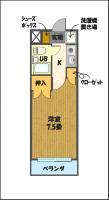 宇都宮の高層賃貸マンション:NARABU壱番館 間取図A