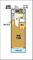 宇都宮の高層賃貸マンション:NARABU壱番館 間取図B