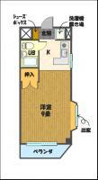 宇都宮の高層賃貸マンション:NARABU壱番館 間取図C