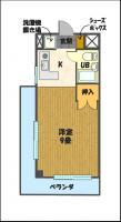 宇都宮の高層賃貸マンション:NARABU壱番館 間取図D