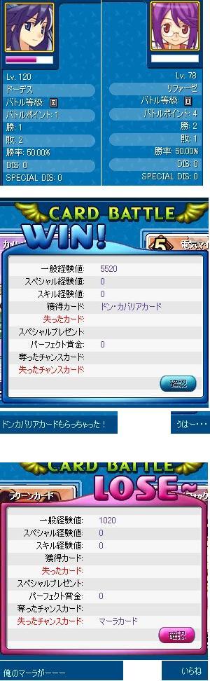 勝ったり負けたりです。