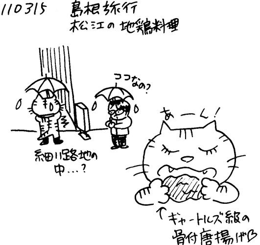 110411 110315島根旅行松江の地鶏料理