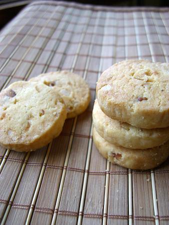 柑橘ピールと胡桃のさくさくクッキー