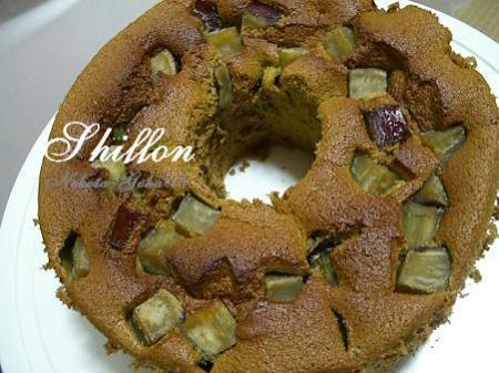 シフォン風抹茶芋ケーキ