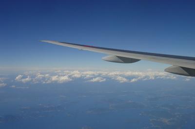 家路 松山付近上空にて/しまなみ海道を望む(ANA B777-281 NH426)