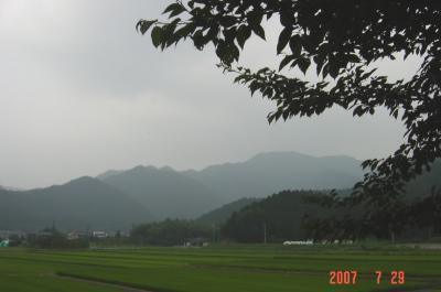 練習試合会場からの風景(by CyberShot)