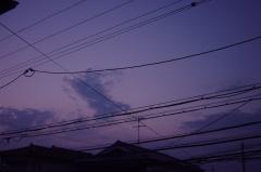 20070607自宅2階からの夕空