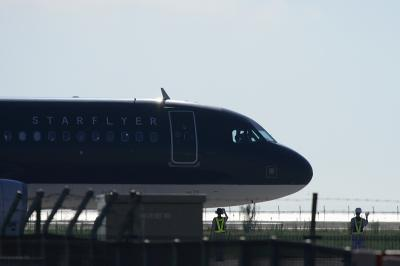 STARFLYER A320 before taxing@北九州空港
