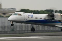 A-net DHC-8-Q400 Landing
