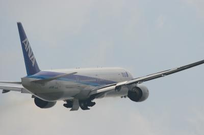 ANA B777-381 RWY14R Airbone@スカイランドHARADA