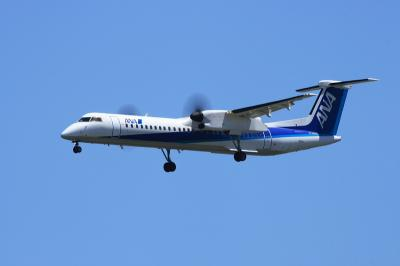 CRF DHC-8-Q400 RWY32R FinalApp.@スカイランドHARADA