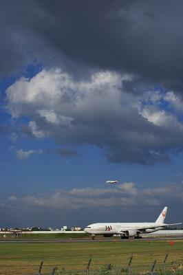 JAL B777-246 Procyon&J-Air CRJ200@スカイランドHARADA