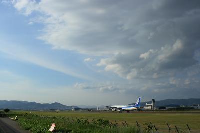 秋空 with ANA B777-381@スカイランドHARADA