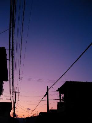西の空の残照@自宅前(by IXY DIGITAL L3)