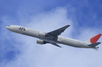 JAL B777-346 JL2081@自宅2階