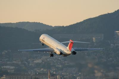 JAL MD-81 Super80 Airborne@スカパ