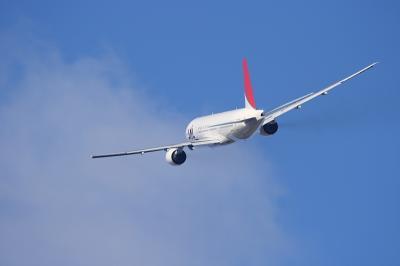JAL B777-246 JL114 Departure@RWY14Rエンド