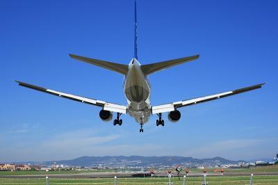 ANA B777-381 Final Approach@千里川土手