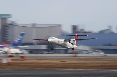 JAC DHC-8-Q400 3X2333 Airborne@RWY14Rエンド