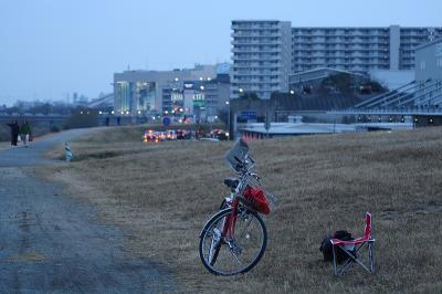 真っ赤なポルシェ&ロケ場所@猪名川西側土手