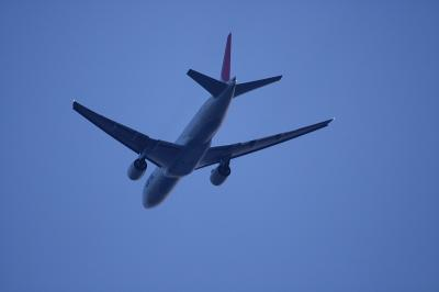 JAL B777-246 JL124 Departure@自宅前
