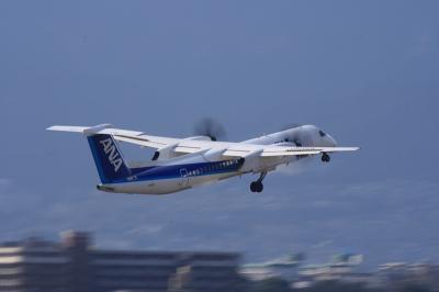 ANA DHC-8-Q400 Airborne@ラ・ソーラ