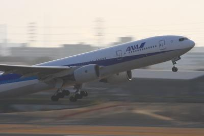 ANA B777-281 Airborne@ラ・ソーラ