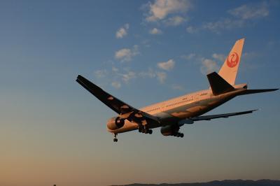JAL B777-246 StarJet Altair@千里川土手