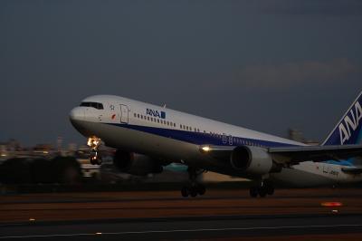 ANA B767-381 Airborne@伊丹スカイパーク