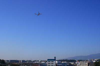 ANA B777-381 with 青空@R176猪名川大橋 by EF28-90 F4-5.6Ⅲ