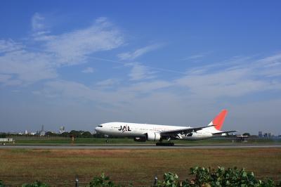 JAL B777-246ランディング@スカイランドHARADA by EF28-90