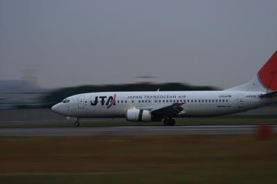JTA B737-400 Landing@スカイランドHARADA(EF28-90/SS:1/25)