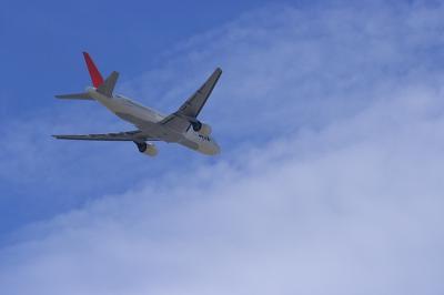 JAL B777-246 JL112@RWY14Lエンド