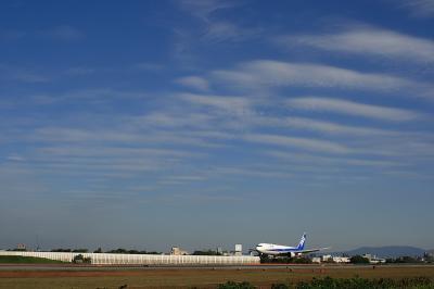 ANA B767-381 Landing@スカイランドHARADA(EF28-90)