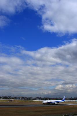 初冬の空 with ANA B777-381@スカイランドHARADA