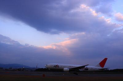 JAL B777-246 Landing@スカイランドHARADA