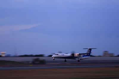 CRF DHC-8-Q400 Landing@スカイランドHARADA