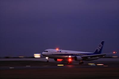 ANA B767-381 Landing@スカイランドHARADA
