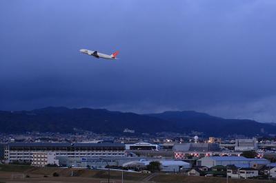 JAL B777-246 Departure@イオンモール立駐