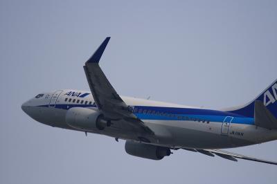 ANK B737-781 Airborne@Bラン14エンド