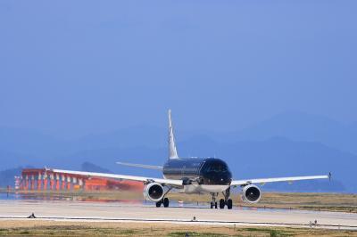 StarFlyer A320 SFJ78@北九州空港RWY36エンド付近