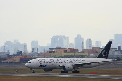 ANA B777-281 StarAlliance Arrival@AFO(by EF90-300)