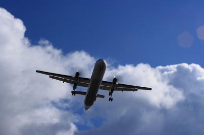JAC DHC-8-Q400@東水門付近(RWY32Rエンド)