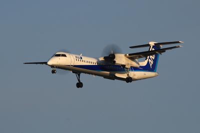 ANA DHC8-Q400 NH1620@スカイランドHARADA(by EF100-400)