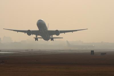ANA B777-381 NH771 Airborne@14Rエンド