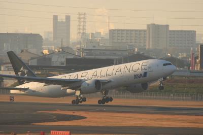ANA B777-281 StarAlliance NH421 Liftup@ラ・ソーラ(by EF100-400)