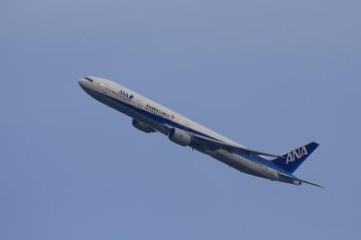 ANA B777-381 NH771 Departure@自宅2階(by EF100-400)