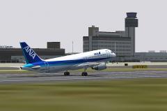 ANA A320 NH423 RJOO RWY14L Liftup@FS2004