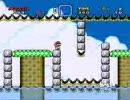 自作の改造マリオ(スーパーマリオワールド)を友人にプレイさせる 3
