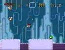 自作の改造マリオ(スーパーマリオワールド)を友人にプレイさせる 9
